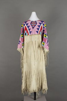 unknown Yakama artist (Yakama), Shimx (Buckskin Dress), ca. 1890, K'pit-lima (beadwork) on Sk'imski'im (thin, tanned hide), The Elizabeth Cole Butler Collection, no known copyright restrictions, 87.70.15