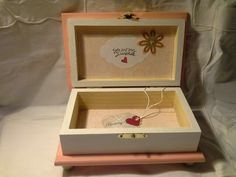 Wood crafts - Beautiful hand crafted safe keeping box.  Enchanted Giftss  on Etsy- sold.