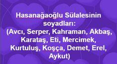 Bünyanlı Hasanağaoğlu Kabilesi (Avcı, Serper.,Kahraman, Akbaş, Karataş, Eti, Mercimek, Kurtuluş, Koşça, Demet, Erel, Aykut)