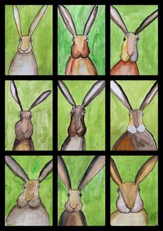 2 posts published by TigerTernet during March 2016 First Grade Art, 4th Grade Art, Spring Art Projects, School Art Projects, Student Crafts, Easter Arts And Crafts, Childrens Artwork, Art Curriculum, Rabbit Art