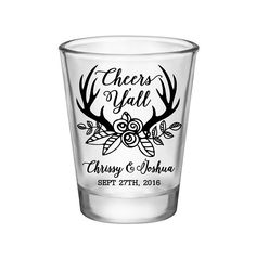 """100x Personalized Shot Glasses Country Wedding Favors 
