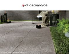 Stone look porcelain tiles for outdoor spaces: Brave by Atlas Concorde