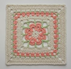 Ravelry: Project Gallery for Just Peachy Blossom 6x6 pattern by Donna Mason-Svara