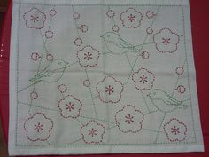 sashiko sampler plum blossoms and birds | this is a lovely l… | Flickr