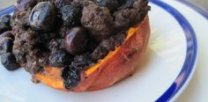 Blueberry Stuffed Sweet Potatoes - Breakfast