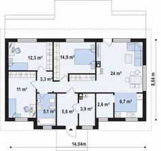 Проект дома ::  Z309 Простой и элегантный одноэтажный дом.  :: Строительная компания Ультра Эс