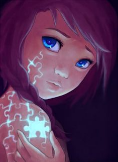 26 Illustrations With Deep Meanings Created By An Artist Struggling With Depression - animation Art Anime, Anime Kunst, Manga Art, Manga Drawing, Fantasy Kunst, Fantasy Art, Illustrations, Illustration Art, Puzzle Art