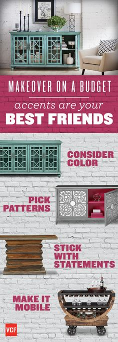 Add a touch of personality to your home with accent furniture.