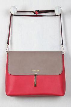 Two-Tone Vegan Leather Envelope Handbag – Style Lavish