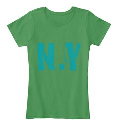 N.Y Kelly Green  T-Shirt Front