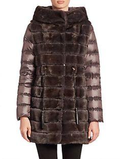 The Fur Salon - Mink Fur Puffer Coat