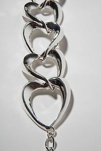 Robert Lee Morris Silver Plated Heart Shaped Necklace.