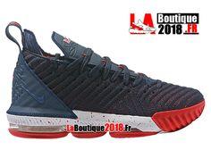 Nike Lebron 16 EP LBJ Noir/Bleu/Rouge Chaussures Officiel Nike Basket Prix Pour Homme