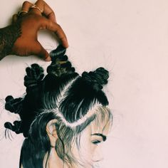 #croqui #fashion #hair #bun