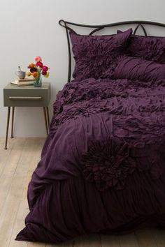 ANTHROPOLOGIE Georgina KING Duvet Cover +4 Shams (2 King,2 Euro) + Bedskirt