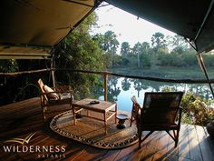 Mvuu Lodge - Lodge facilities include a dining room, pub, lounge area, extensive wildlife library, a hide overlooking the river and a natural rock swimming pool. #Safari #Africa #Malawi