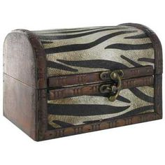 Small Zebra Print Rustic Box is crafted from wood and features a dome style lid. The hinged lid opens up to expose a hollow, brown wood interior perfect for sto Art Craft Store, Craft Stores, Zebra Crossing, Wood Interiors, Decorative Storage, Brown Wood, Hobby Lobby, Zebra Print, Home Accents