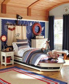 Nautical bedroom for kids | Çocuklar için gemici yatak odası | http://gonauticaldecor.blogspot.com.tr/2013/01/nautical-decorating-ideas.html?m=1