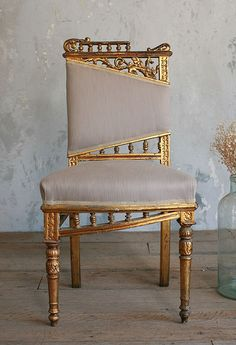 { Vintage Gilt Side Chair }