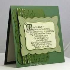 Irish Blessing by JBgreendawn - Cards and Paper Crafts at Splitcoaststampers Saint Patricks, St Patricks Day, Scrapbook Cards, Scrapbooking, Chalk Ink, Irish Blessing, Irish Eyes, Embossed Cards, St Paddys Day