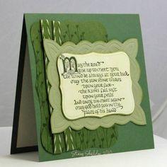 Embossed Irish Blessing Card ~ JBgreendawn