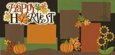 Happy Harvest Page Kit  Out on a limb scrapbooking