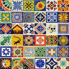 Mexican Ceramic Tile Talavera Set of 40 size 6 x 6