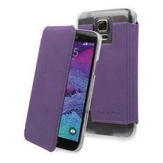 MUVIT - made in Paris - étui Crystal Folio - SAMSUNG GALAXY NOTE 4 -  violet. PVC   27 5f04a00b82e5