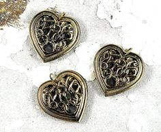 Items similar to Gold Filigree Metal Heart Pendant - 28 x - wedding favours - bridal shower favours - Valentines - Jewellery and Craft Supplies on Etsy Heart Jewelry, Gold Jewelry, Metal Jewellery, Unique Jewelry, Bead Store, Gold Filigree, Handmade Art, Gold Pendant, Pendant Jewelry