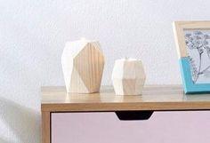 andas Teelichthalter (2-tlg.) für 21,99€. Dekorative Kerzenhalter, Im 2-teiligen Set, Aus Kiefernholz und Metall, Maße (Ø/H): 8/8 cm und 8/12 cm bei OTTO