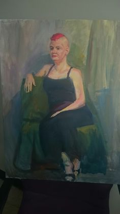 Woman in chair (oil on canvas)  #oil #oil Painting #painting #figure Painting