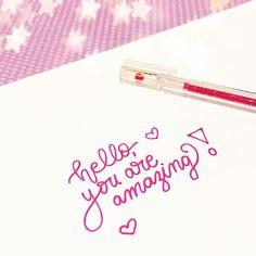 Lettering Inspiration ✨Bold Line Glitter Gel Pen✨ Hand Lettering Alphabet, Doodle Lettering, Creative Lettering, Brush Lettering, Bullet Journal Art, Bullet Journal Ideas Pages, Bullet Journal Inspiration, Gel Pen Art, Gel Pens