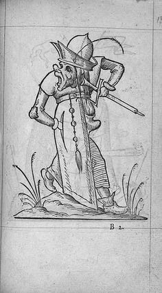 François Desprez, f. B2 Dessin 13 Les Songes drolatiques de Pantagruel A Paris : Par Richard Breton 1565