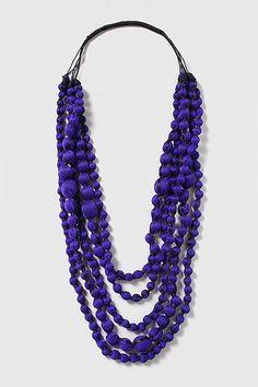 Womens lobelia mega bead multirow necklace - blue, blue from Topshop - £18.50 at ClothingByColour.com