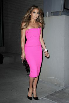 Jennifer Lopez in Roland Mouret - 2014 (dressing up the right way on a summer or spring night- Mari) Fashion Company, Strapless Dress, Bodycon Dress, Strapless Gown, Body Con, Body Con Dress