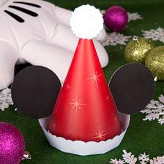 Mickey's Santa Hat   Printables   Disney Family.com