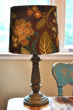 10 minute Lamp Shade revamp! Easy peasy.