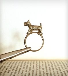 "Brass ""Scottie Dog"" Ring"