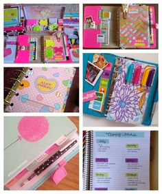 Top left pic - keeping all your sticky notes in a decorative box, me like!