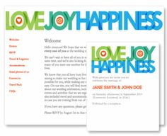 Love Joy Happiness, for your Glosite wedding website. RSVP management, invitations, and wedding websites in one place.