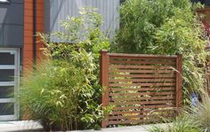 perfect idea for a small privacy fence, put a small tree or bush next to the stop point Arbors Trellis, Garden Trellis, Garden Fencing, Lawn And Garden, Front Yard Fence, Diy Fence, Front Yard Landscaping, Fence Ideas, Yard Privacy