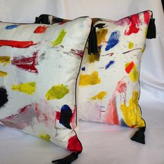 Mary Jane McCarty Design Pillows in Pierre Frey fabric Arty