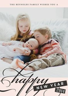 Lavish Wishes - New Years Cards - Elm and Gray in Chenille Pink