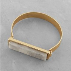 Editors pick Stone panel cuff Price is for 1 cuff bangle.         Gold metal Marbled stone panel Clasp closure Beige / Navy. ❤️This bangle will b embarked down to $23 this weekend so lemme know if u want it❤️ Jewelry Bracelets