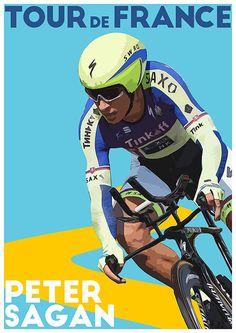 Tour De France Poster Peter Sagan TroutLifeStudio