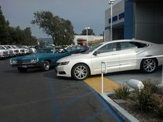 """I live close to many car dealerships. Today I took """"Jackie Blu"""" to our local Chevrolet Dealership to take a picture of my """"1968"""" Impala next this """"2014"""" Impala. """"My, have cars changed over the years!"""" Sticker price for this """"2014"""" fully loaded LTZ Impala...$40,000. Sticker price for my """"1968"""" Impala brand new...$4,500.00. """"Wow!"""" The new Chevy's are great cars. I just """"dig"""" my classic Chevy more! I was out in my """"68"""" yesterday as I was parked in front of a store. When I came out, someone had…"""