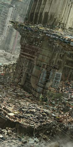 going to cyberpunk mecca - Hong Kong Opportunity: Margin Driver slums. (Babiru by Nivanh Chanthara)Opportunity: Margin Driver slums. (Babiru by Nivanh Chanthara) Arte Cyberpunk, Cyberpunk City, Ville Cyberpunk, Futuristic City, 3d Fantasy, Fantasy World, Art Internet, Sci Fi Stadt, Illustration Manga