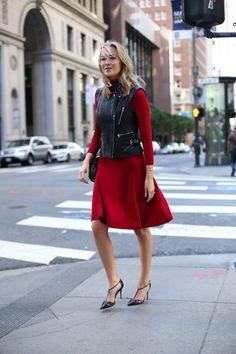 Red Turtleneck Dress   MEMORANDUM, formerly The Classy Cubicle