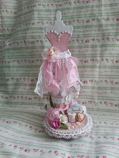 Altered shabby chic dress form