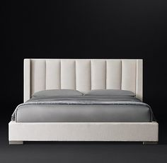 Vertical Channel Shelter Fabric Platform Bed